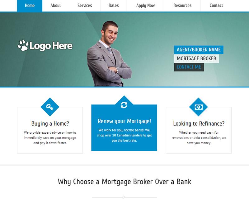 mortgage broker website designs mortgage agent website designs. Black Bedroom Furniture Sets. Home Design Ideas