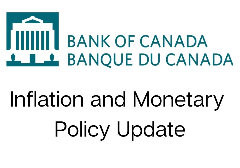 April 21-2021 - Bank of Canada will hold current level of policy rate until inflation objective is sustainably achieved, adjusts quantitative easing program
